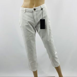 Dear John Kenna White Crop Trouser